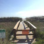 CLOSED sign at beach