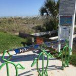 Neptune Beach closed sign