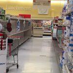 empty toilet paper aisle