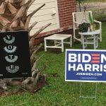 Ruth Bader Ginsberg VOTE sign and Biden/Harris sign