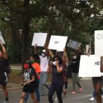 BLM protestors marching