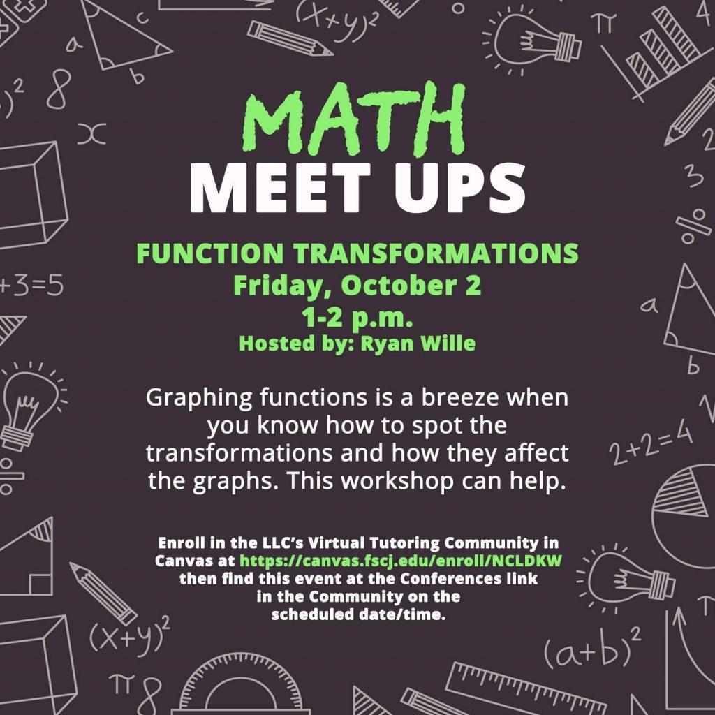 Math Meet Up flier